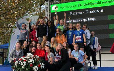 Dijaki in dijakinje GJV Idrija ODLIČNI na 24. Ljubljanskem maratonu