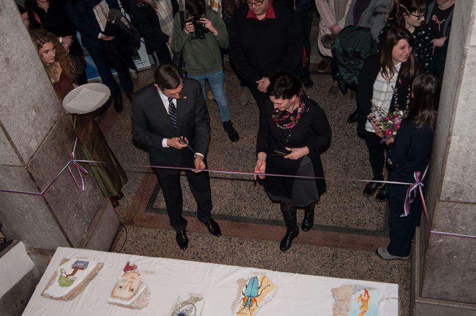 Odprtje razstave likovnih del dijakov GJV