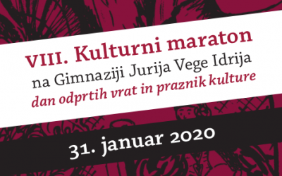 Kulturni maraton – obvestilo